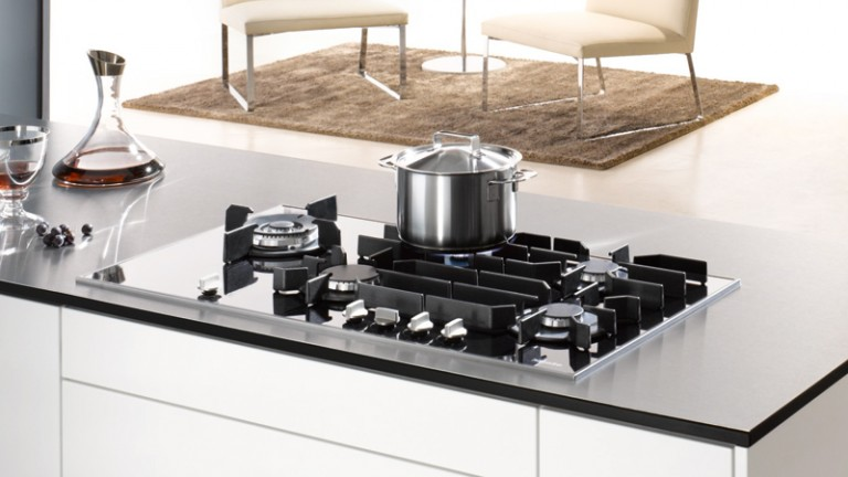 Elegant Gas on Glass Cooktops