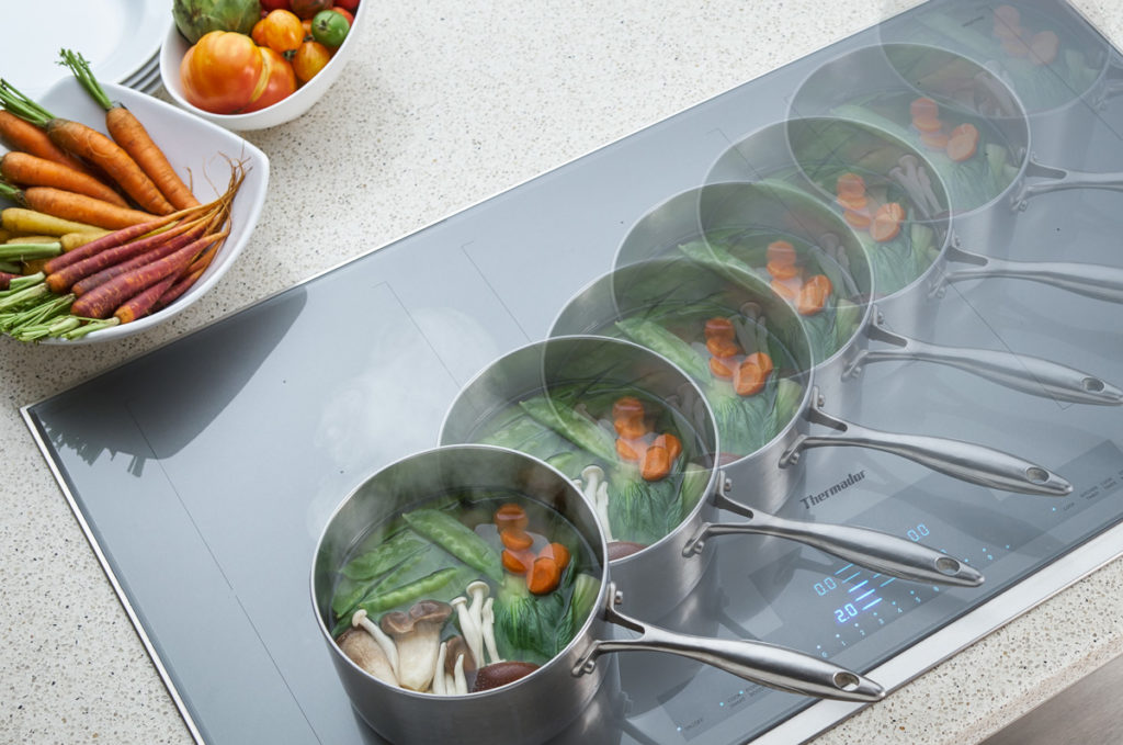 Thermdor Liberty induction cooktop featuring MoveMode