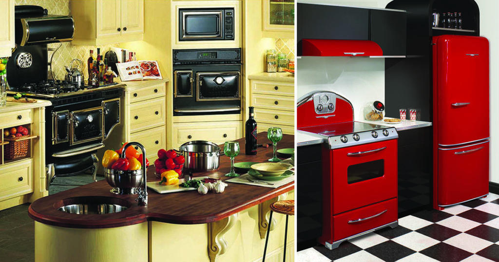 Antique and Northstar retro kitchens from Elmira Stove Works