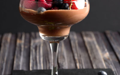 Dark Chocolate Mousse with Fresh Berries