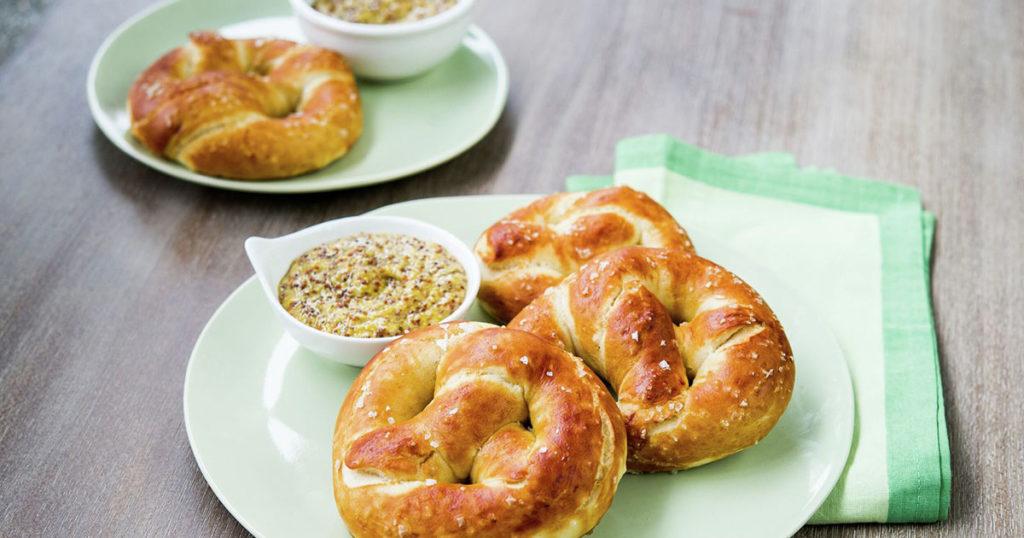 Soft Pretzels with Whole Grain Horseradish Mustard