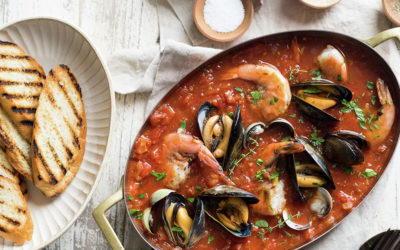 Cioppino Stew with Grilled Crusty Bread