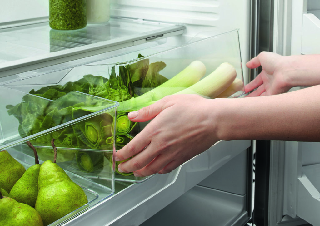 Humidity drawers in a Fisher & Paykel refrigerator
