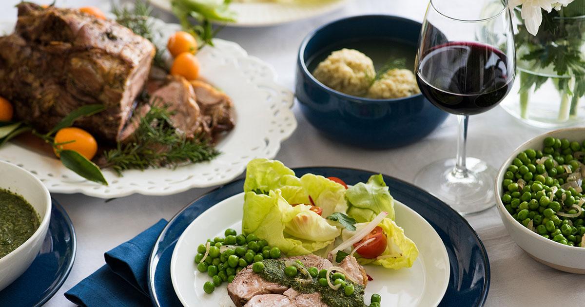 Lamb Roast with Mint Pesto