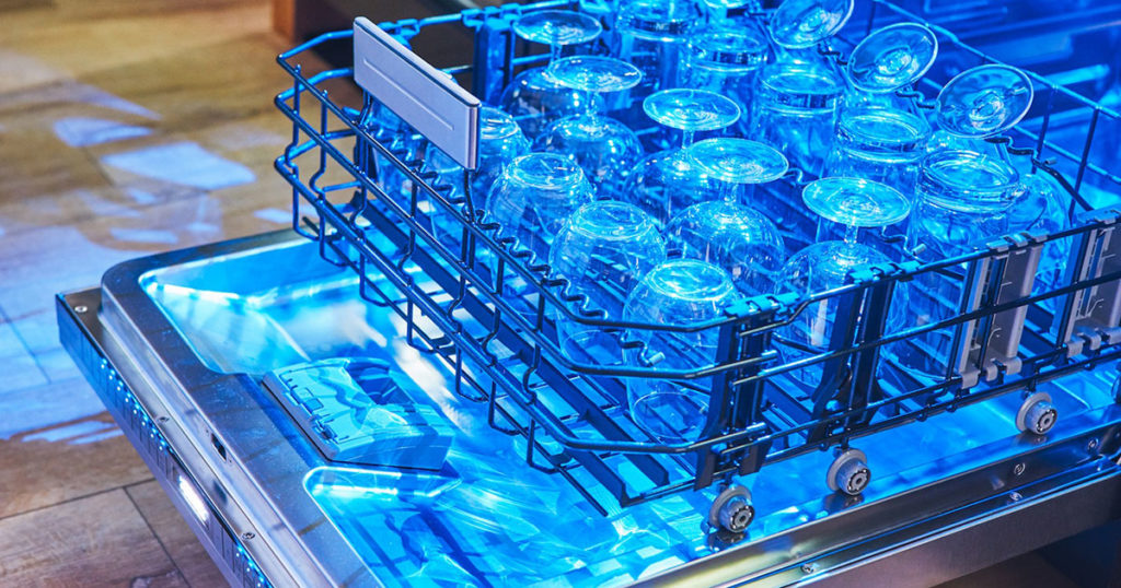 Thermador Glass Care Center dishwasher