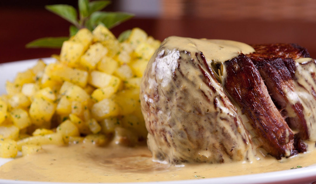 Top Sirloin Steak with White Wine Tarragon Mustard Sauce