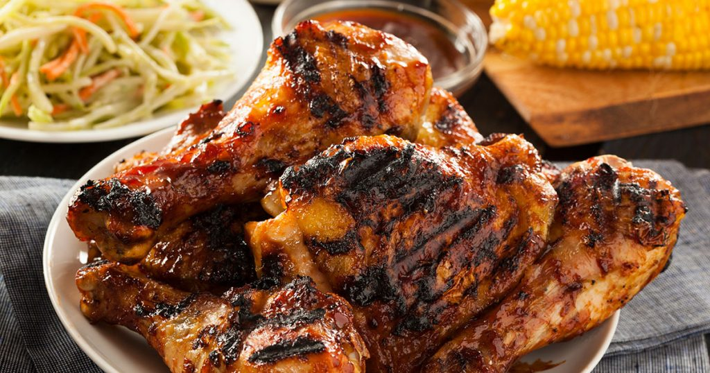 BBQ chicken with homemade sauce
