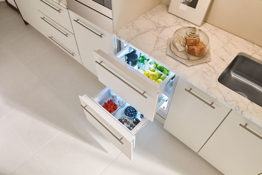 Sub-Zero refrigerated drawers