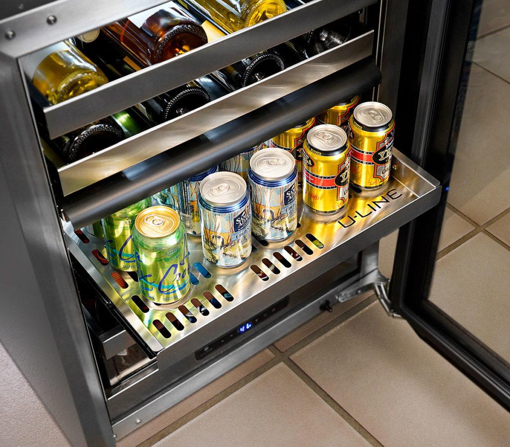 U-Line dual zone beverage center